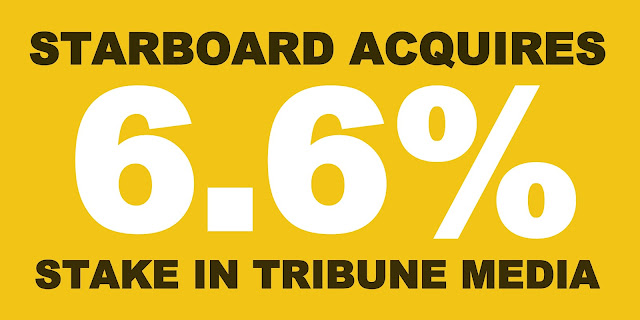 B&E | Starboard Acquires 6.6 percent stake in Tribune Media