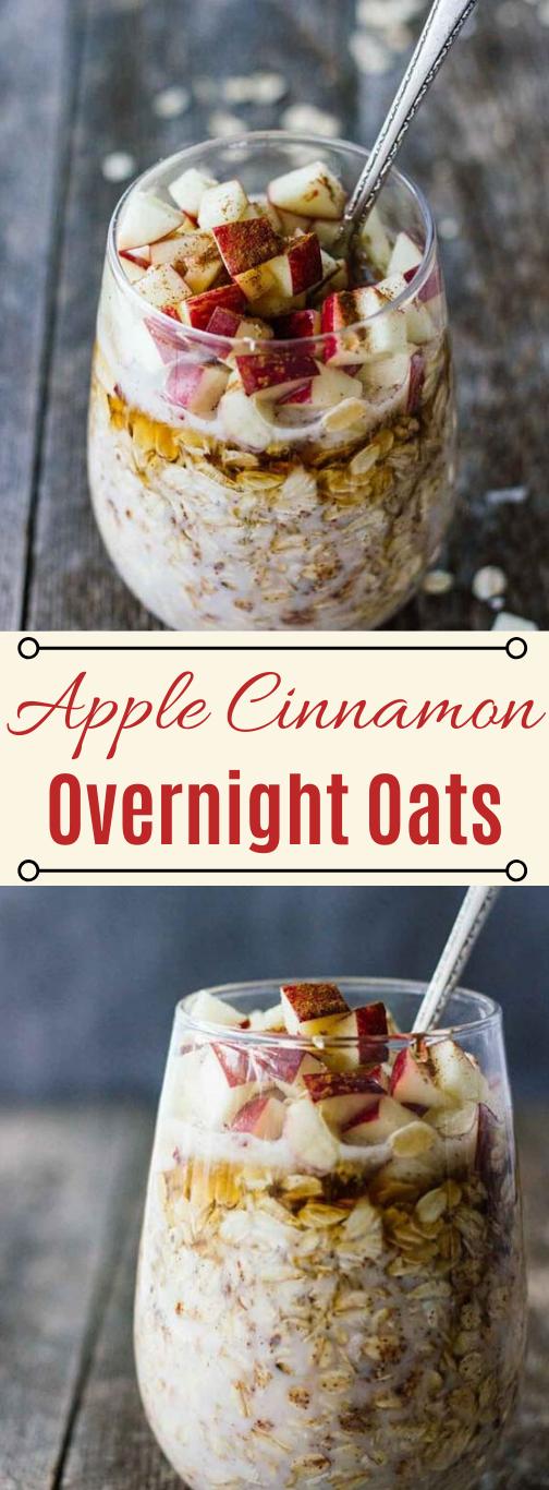 APPLE CINNAMON OVERNIGHT OATS #apple #cinnamon #desserts #cakes #pumpkin