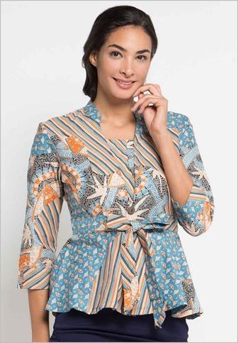 Model Baju Batik Ibu Guru Yang Elegan Dan Simpel