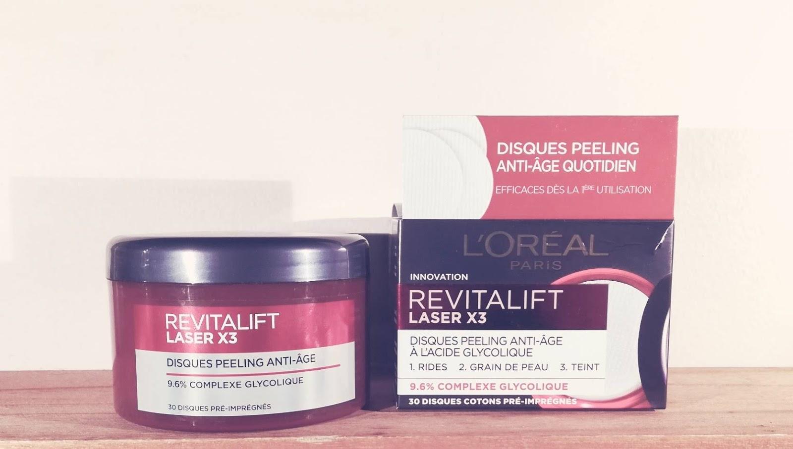 Revitalift Laser x3, les disques peeling anti-âge à l'acide glycolique de L'Oréal Paris
