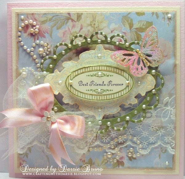 Crafting with Darsie: JustRite Friday Challenge - Shabby Chic