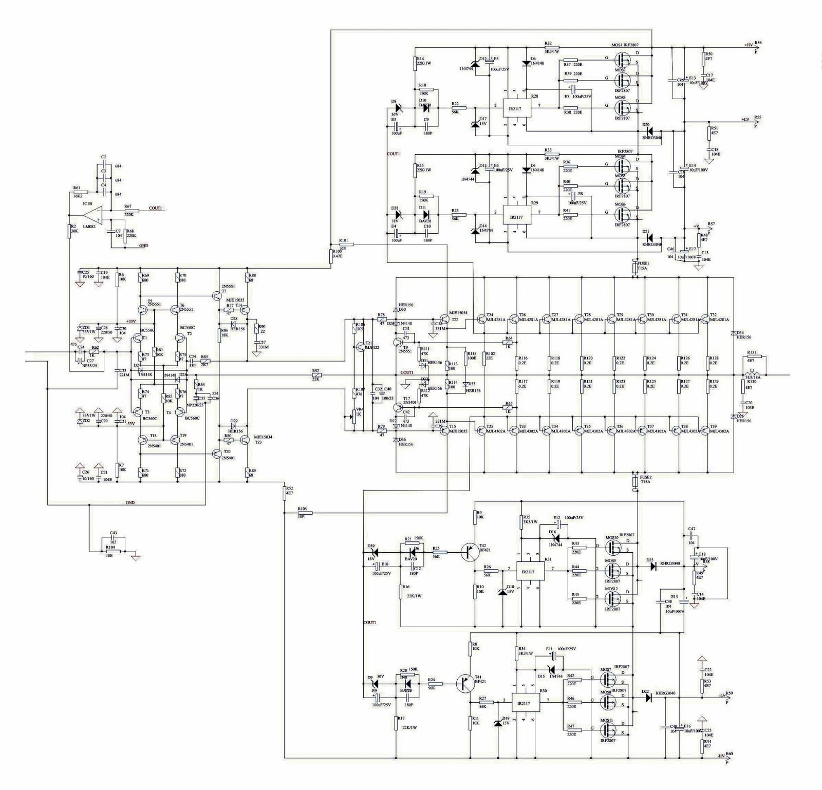 schematic power amplifier apex