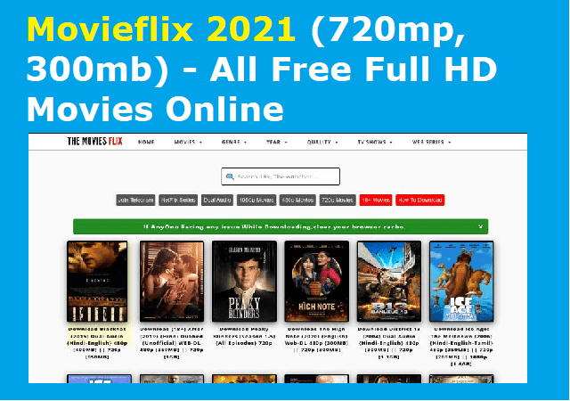 Movieflix 2021 (720mp, 300mb) - All Free Full HD Movies Online