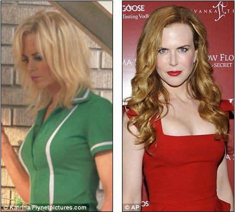 Who's that girl? Flame-haired Nicole Kidman gets a dramatic peroxide