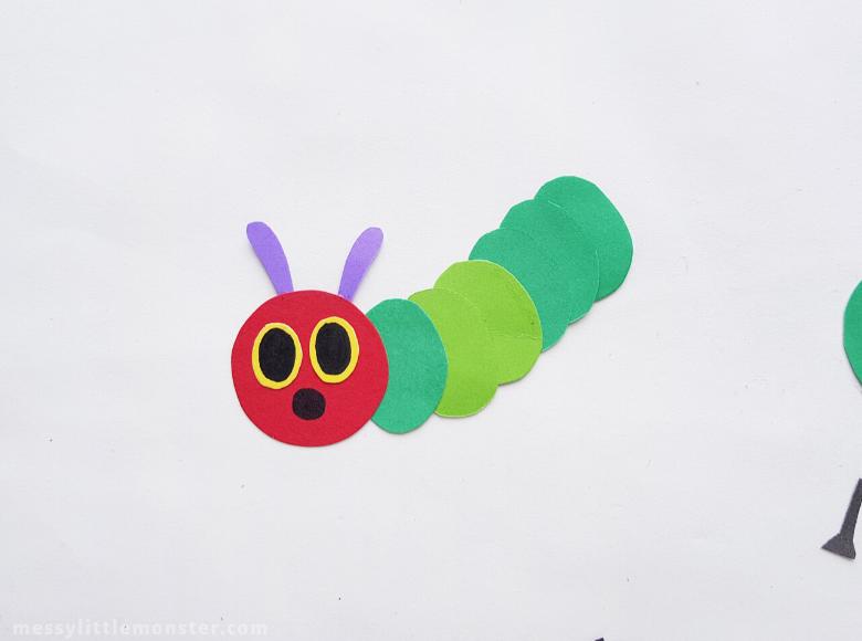 caterpillar puppet craft for kids
