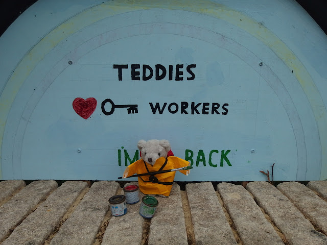 Teddy for key workers display