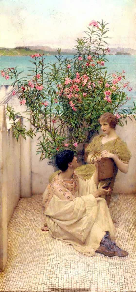 Namoro - As mais belas pinturas de Lawrence Alma-Tadema - (Neoclassicismo)