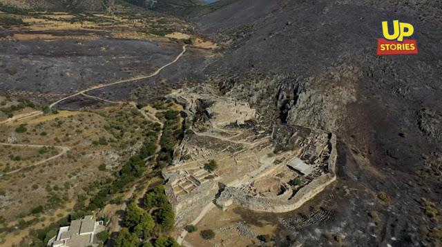 Μυκήνες: Το βασίλειο των λεόντων πριν και μετά την καταστροφική πυρκαγιά (βίντεο drone)