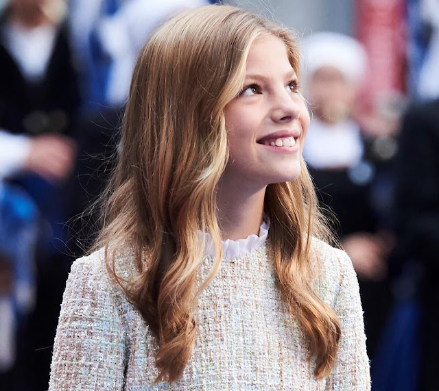 Infanta Sofía is the younger daughter of King Felipe and Queen Letizia. Queen Sofía of Greece and Denmark. Princess Leonor of Asturias