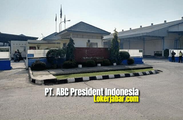 Lowongan Kerja PT. ABC President Indonesia Karawang 2021