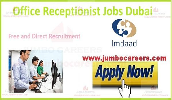 Latest Office Receptionist Jobs Dubai at Imdaad Facilities
