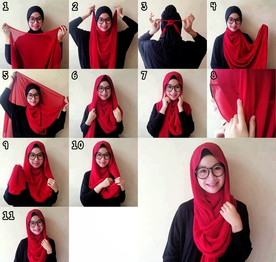 Trik Tampil Cantik dengan Memadupadankan Hijab Sambil Berkacamata