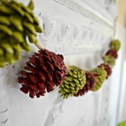 simple Thanksgiving garland craft idea