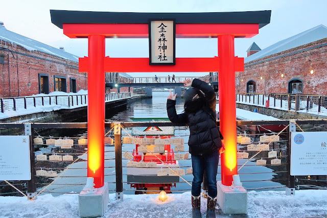北海道 函館 金森赤レンガ倉庫 金森神社 函館八幡宮