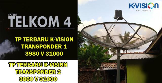 Tranponder 2 K Vision Telkom 4 TP 3860 v 31000