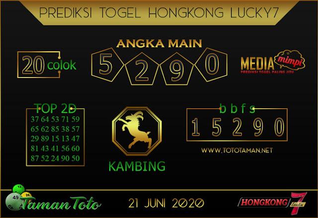 Prediksi Togel HONGKONG LUCKY 7 TAMAN TOTO 21 JUNI 2020