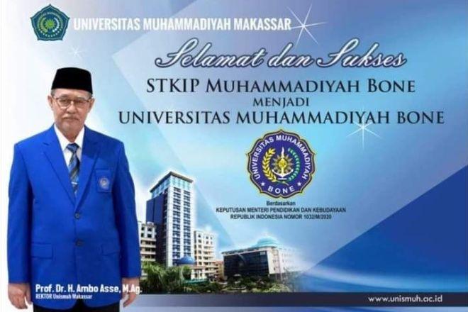 Beredar Ucapan Selamat, STKIP Muhammadiyah Bone Sudah Jadi Universitas?