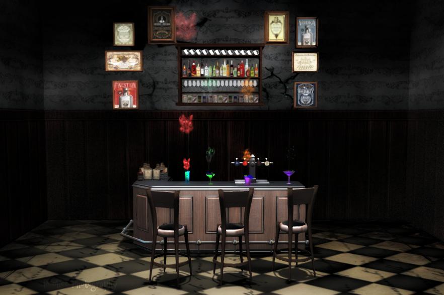 Dark Seedy Bar