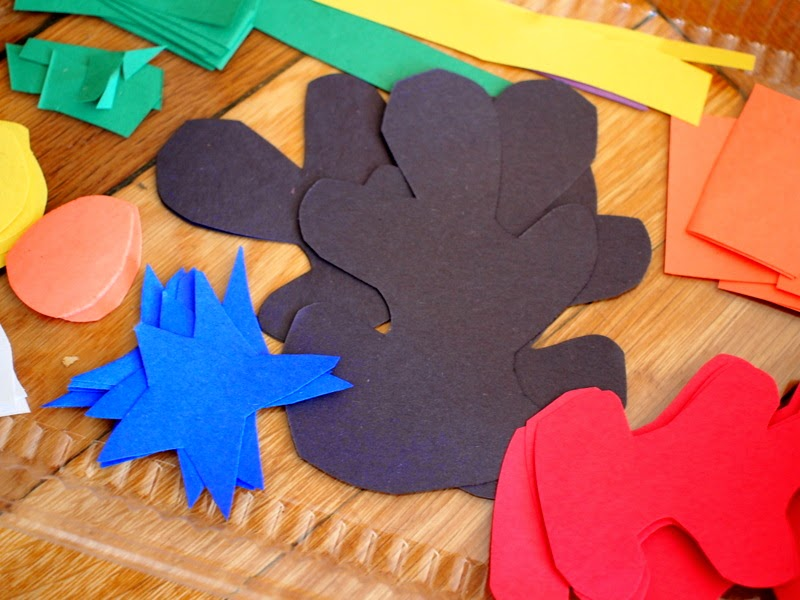 construction paper cut outs