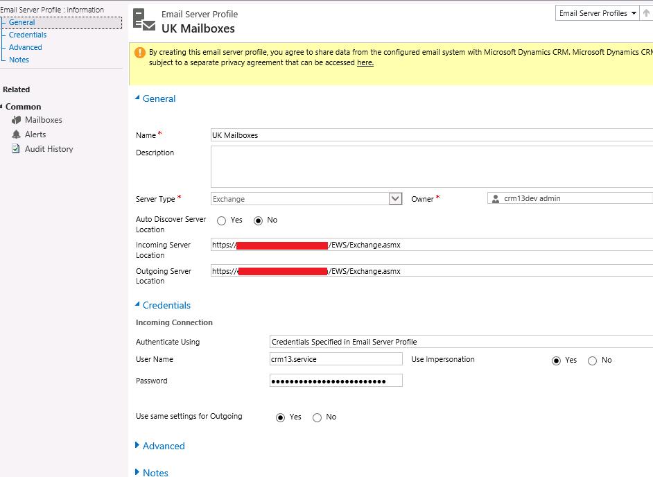 CRM 2013 Exchange Synchronization - Microsoft Dynamics CRM