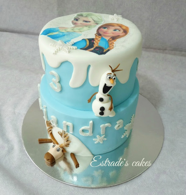 Tarta Frozen de cumpleaños 2