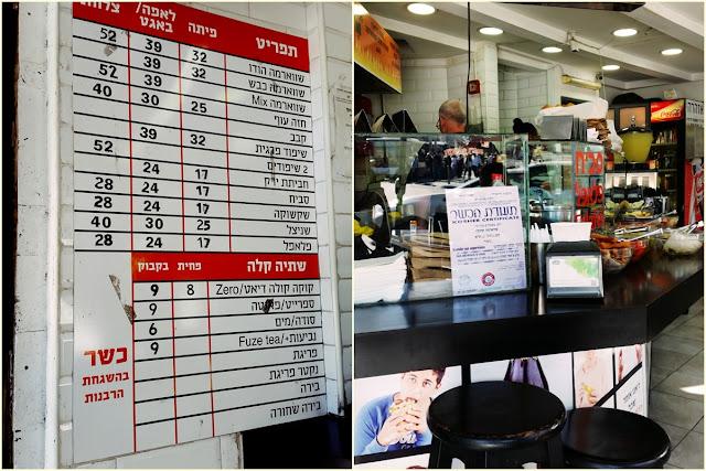 Tel Awiw - przykładowe ceny