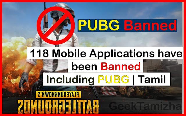 Pubg banned Tamil geekthamizha