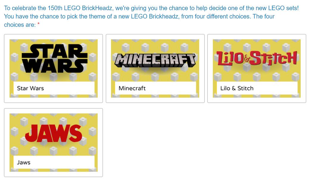 君の投票で150番目の記念ブリックヘッズが決まる!レゴアイデアファン参加型企画実施中