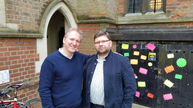 Nigel Short and Pawel Lukaszewski at Tenebrae recording session - May 2016 - credit Pawel Lukaszewski