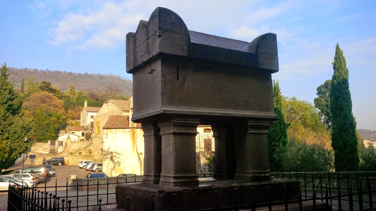 The tomb of Francesco Petrarch in the village of Arqua Petrarca
