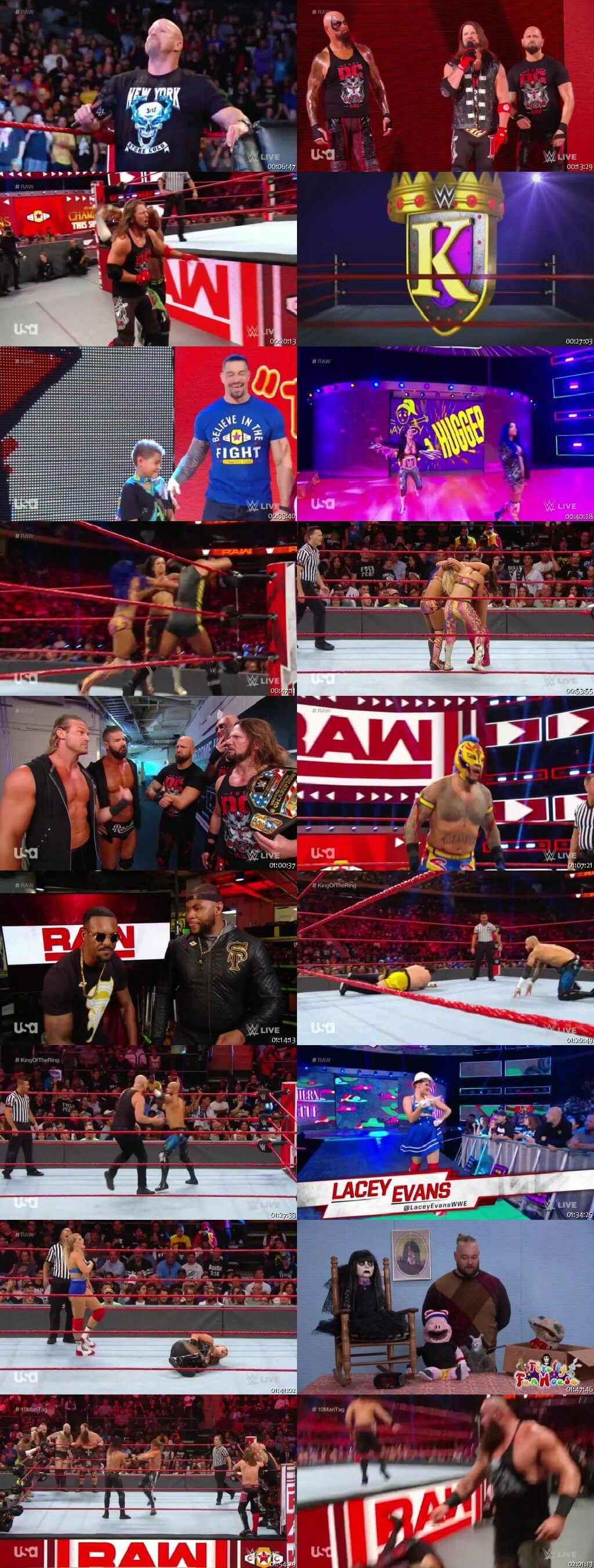 Screen Shot Of Wrestling TV Show WWE Monday Night Raw 9th September Watch Online Free Download
