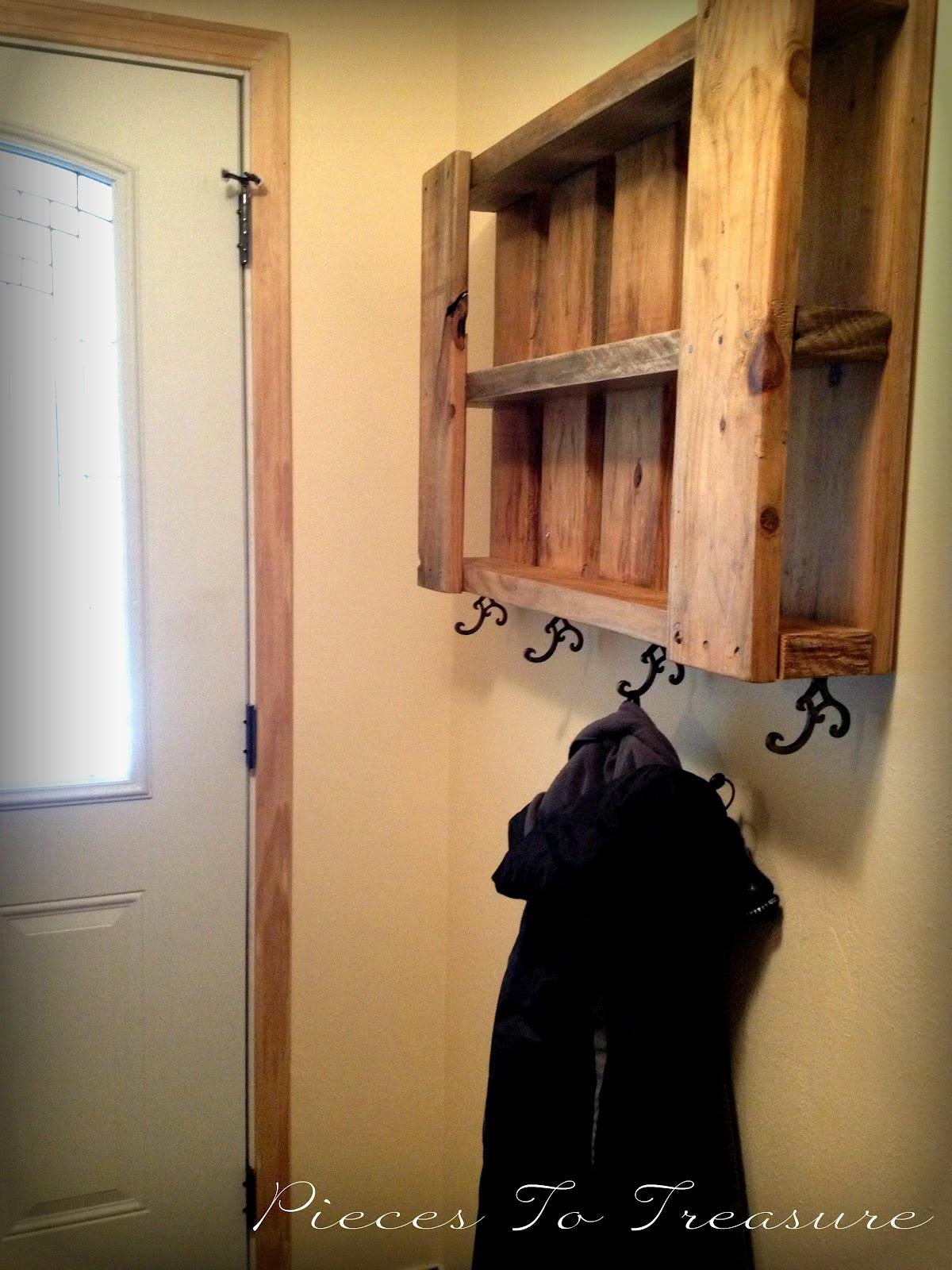 pieces to treasure repurposing and a wall coat hanger. Black Bedroom Furniture Sets. Home Design Ideas