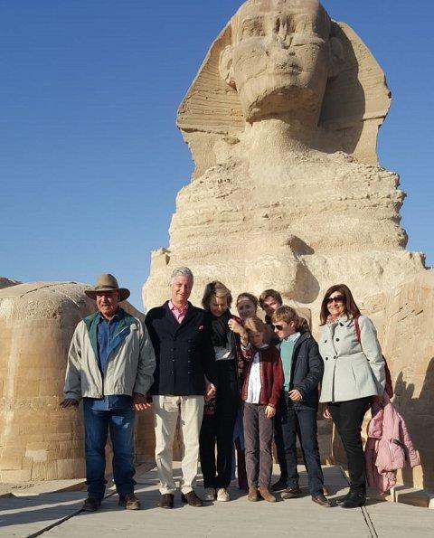 Queen Mathilde, Crown Princess Elisabeth, Prince Gabriel, Prince Emmanuel and Princess Eleonore visited the pyramids of Giza