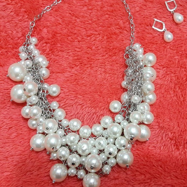 pearl, accessories, pear necklake, earing