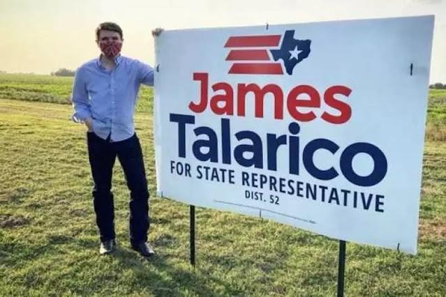 Cartaz da campanha de James Talarico nos EUA