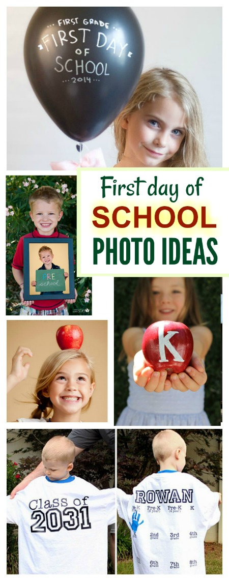 Tons of photo ideas for the first day of school- these are adorable!