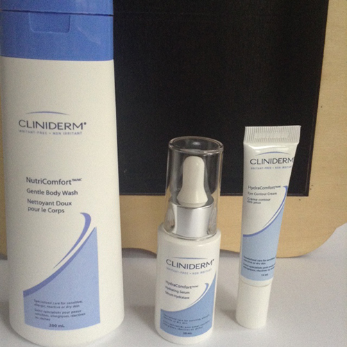 Cliniderm NutriComfort Gentle Body Wash, Cliniderm HydraComfort Hydrating Serum, Cliniderm HydraComfort Eye Contour Cream Review and Giveaway