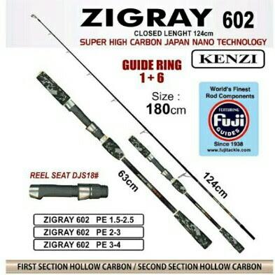 Joran Jigging Kenzi Zigray 180 Cm PE 2-3