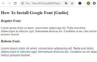 How To Install And Optimization Google Font