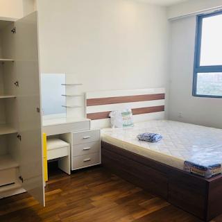 phòng ngủ căn hộ the pegasuite tầng 24 phường 6 quận 8