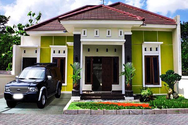 35 Contoh Kombinasi Cat  Warna  Hijau  Pada Desain Rumah