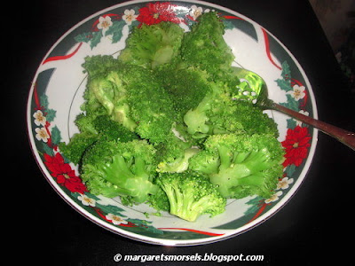 Margaret's Morsels | Broccoli with Lemon
