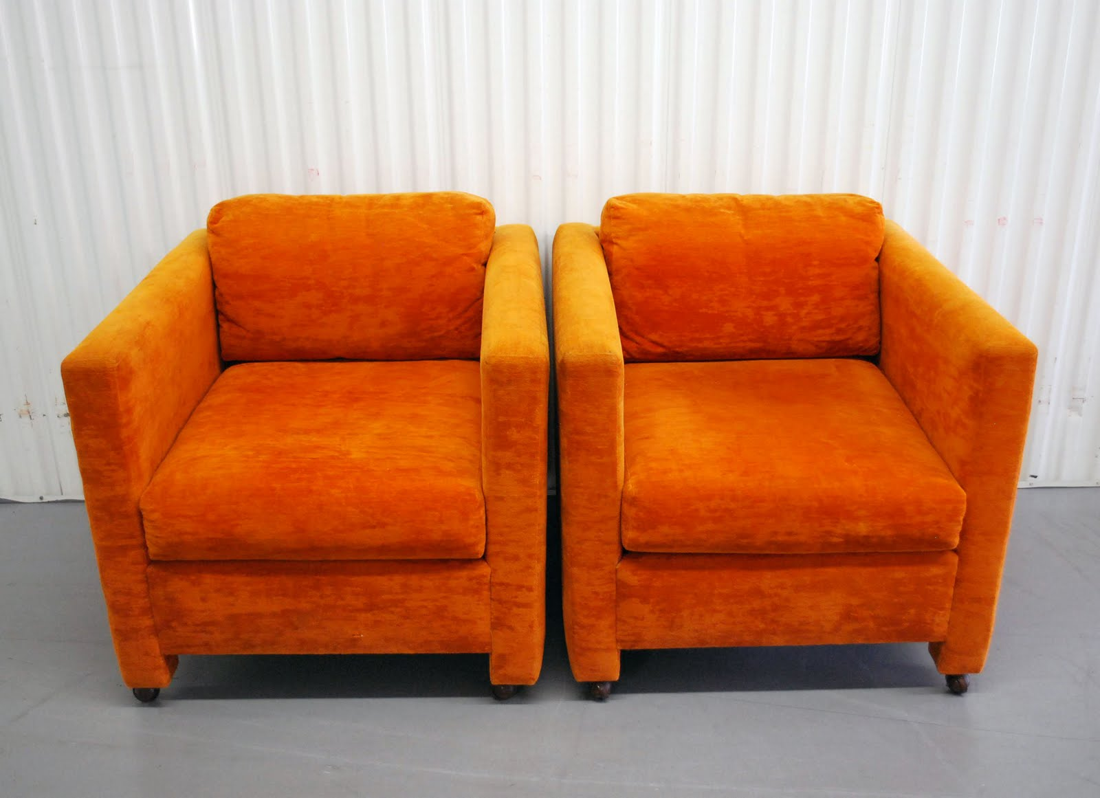 Modern Orange Chair Junk2funk Mid Century Modern Orange Club Chairs