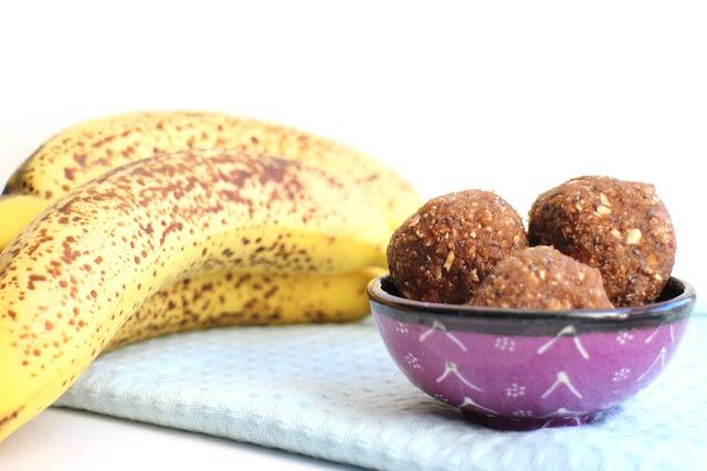 Banana bread energy balls recipe