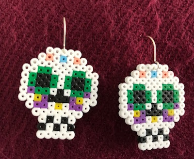 Mini Hama bead Halloween earrings
