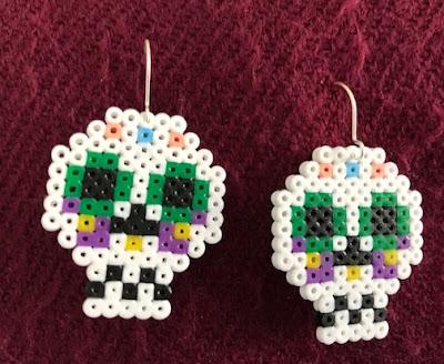 Mini Hama bead Halloween earrings