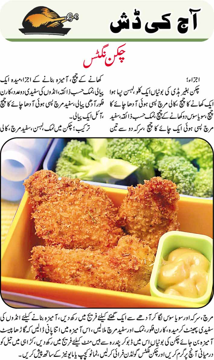 Daily Cooking Recipes In Urdu Chicken Nuggets Recipe