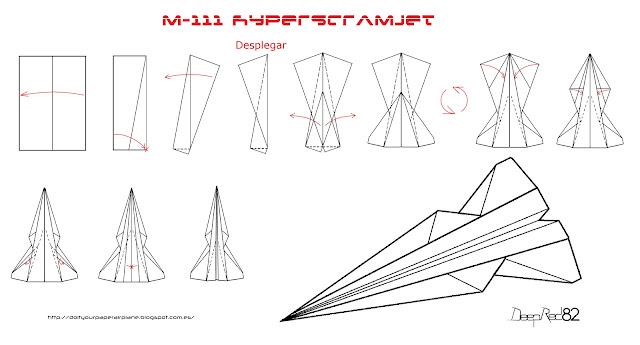Infografía avión de papel M-111 HyperScramjet