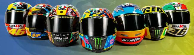 Colección Valentino Rossi todos mis cascos