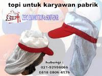 Model Topi Karyawan Pabrik /Topi Pet Sanggul / Topi Produksi